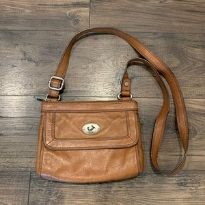 Fossil Vintage Leather Cross Body Bag